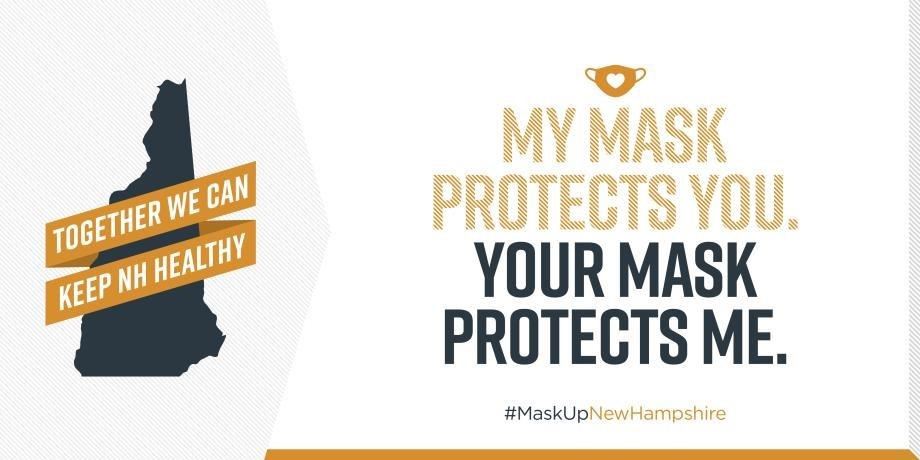 To slow the spread of coronavirus, each of us must continue to take personal responsibility to protect ourselves and our loved ones. By doing just a few simple things, like wearing a face covering, we can make a big difference. #MaskUpNewHampshire