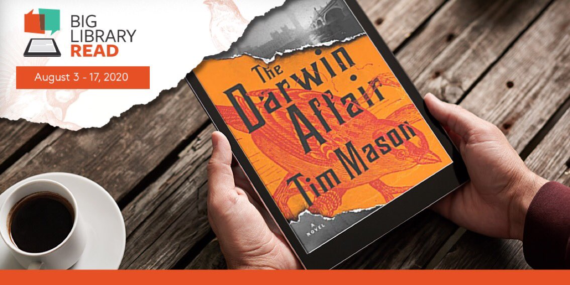 #BigLibraryRead begins today! Borrow the featured title 'The Darwin Affair' by Tim Mason with no waitlists or holds from our digital collection.   *BONUS: Use #BigLibraryRead for a chance to win a Samsung Galaxy Tablet from @OverDriveLibs