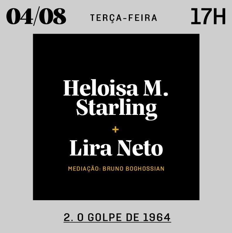 A @folha e a @cialetras fazem a partir desta semana uma série de conversas sobre a ditadura militar, no #NaJanelaFestival. Amanhã, às 17h, vou ter o privilégio de mediar uma live com @LiraNeto_, autor de Castello, e a professora Heloisa M. Starling.