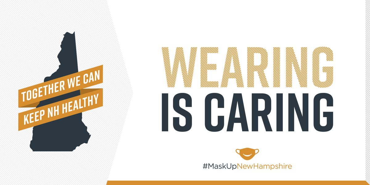 #DidYouKnow :: Your cloth face covering should reach above your nose, below your chin, and completely cover your mouth and nostrils? It should also fit snugly against the sides of your face. #MaskUpNewHampshire #KeepNHHealthy