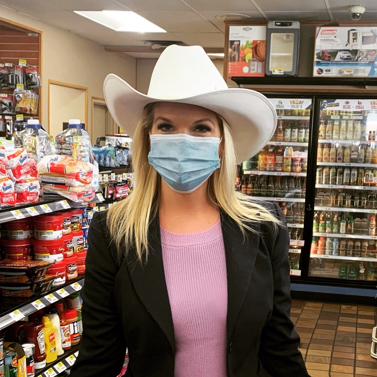 How's my hat look with my mask? #campaigntrail #MondayMotivaton #Oklahoma
