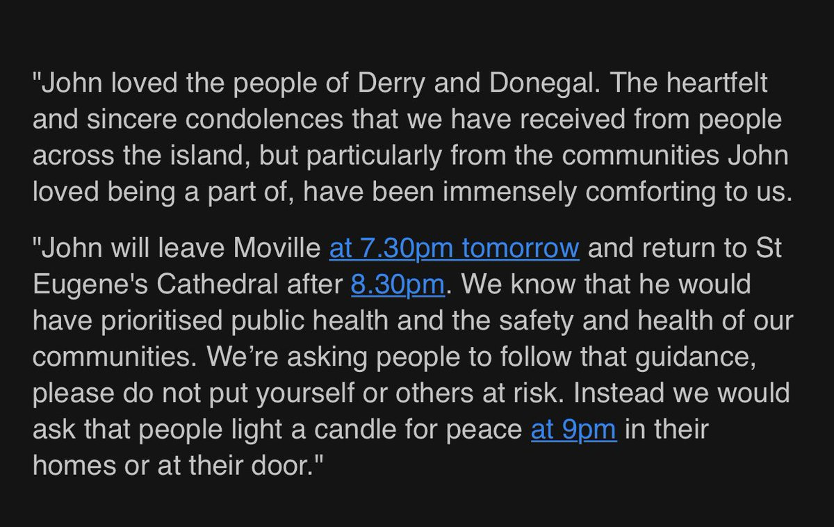 A statement on behalf of the Hume family.   Please join us tomorrow by lighting a candle for peace at 9pm.