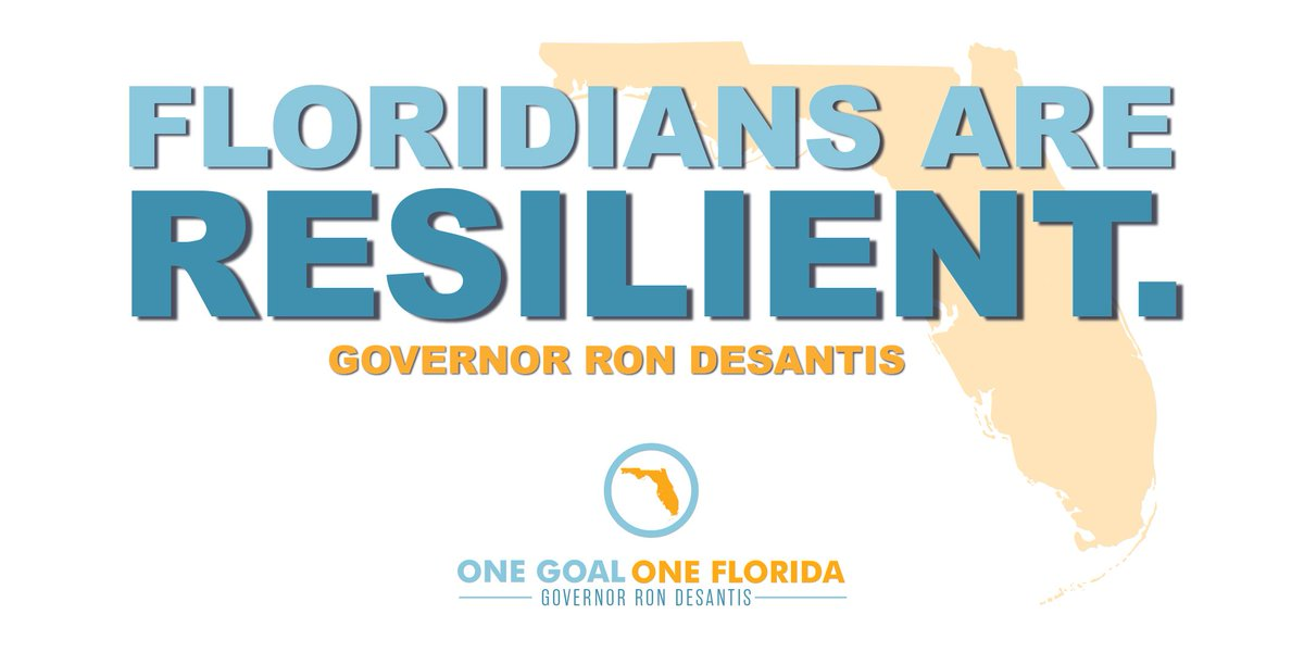 There's no doubt that Floridians are tough. Together, we can and will overcome this challenge by washing hands, social distancing, wearing a mask and protecting the vulnerable. #OneGoalOneFlorida