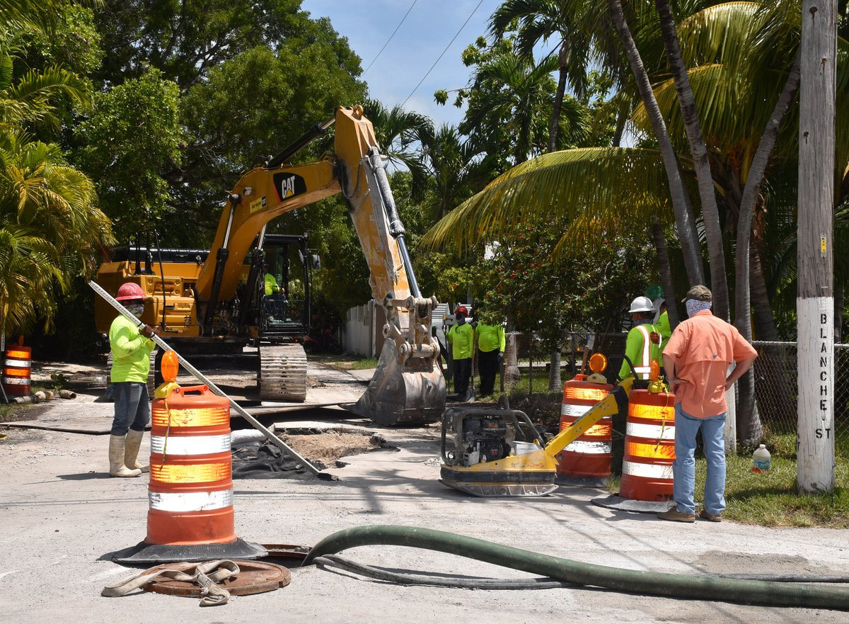 Work continues on the Patricia and Ashby neighborhood drainage project. Today crews were working on Blanche St. When the neighborhood stormwater work is done, Monroe County will finish by revamping Bertha Street with stormwater drainage and a much-needed paving.