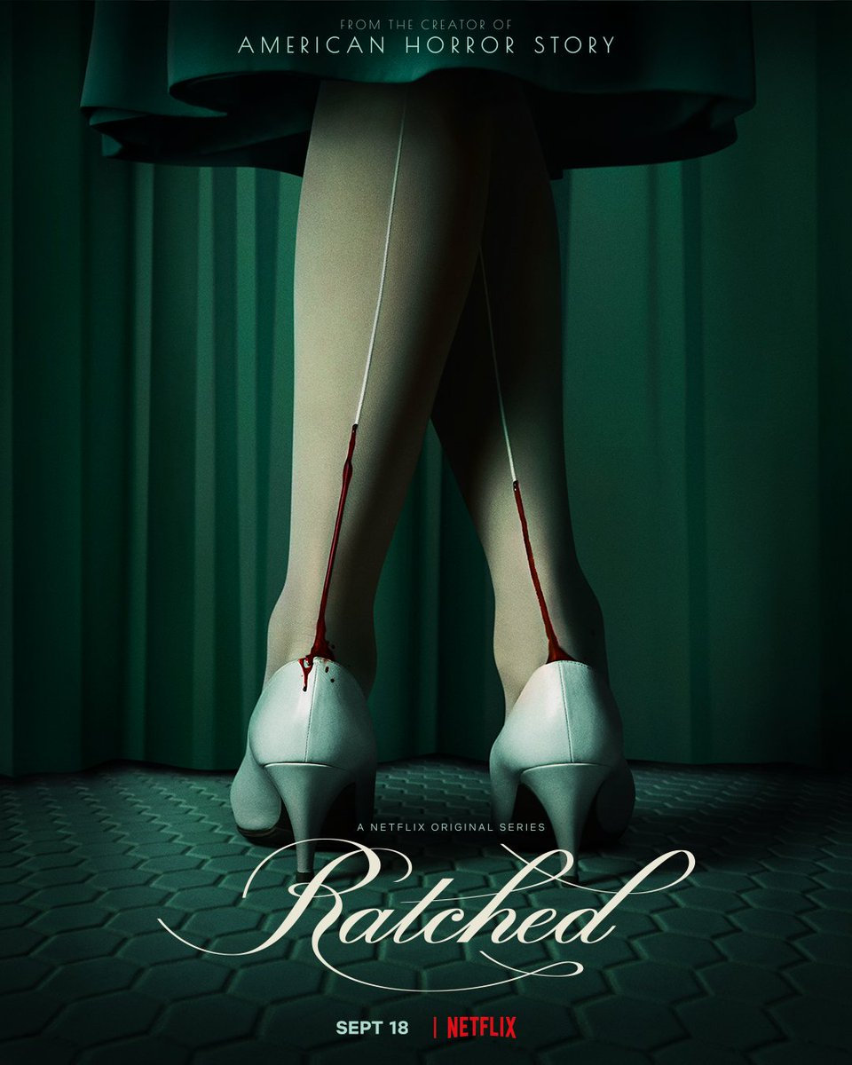 📸 Posters from upcoming Netflix Originals #Ratched. Premiering this September 18th globally.  A story which will follow Ratched's journey and evolution from a Nurse to full-fledged Monster.