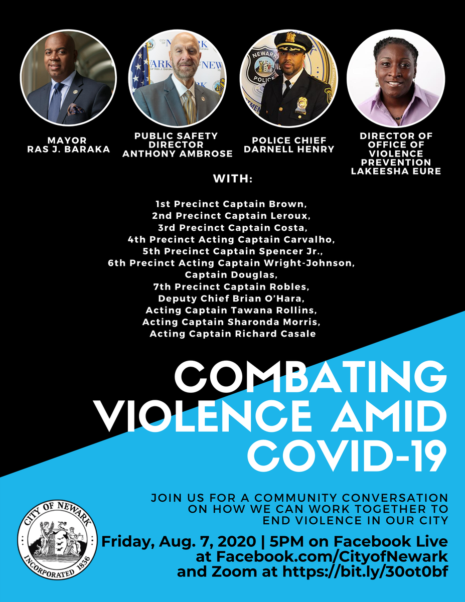 This Friday, Aug. 7, at 5pm we will host a special community conversation on how we can work together to end violence in our city. Join us on Facebook live or Zoom at .