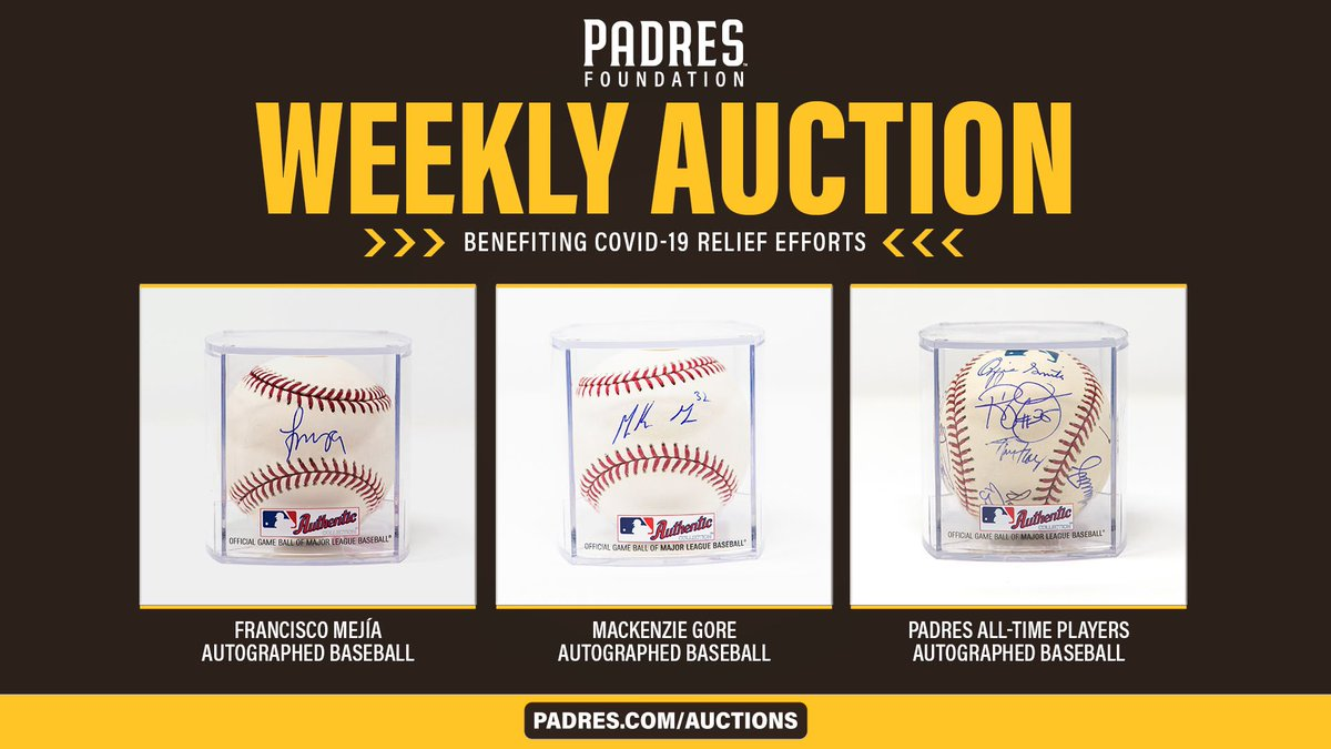 Another lineup of #Padres Foundation auction items is here!  Bid now: