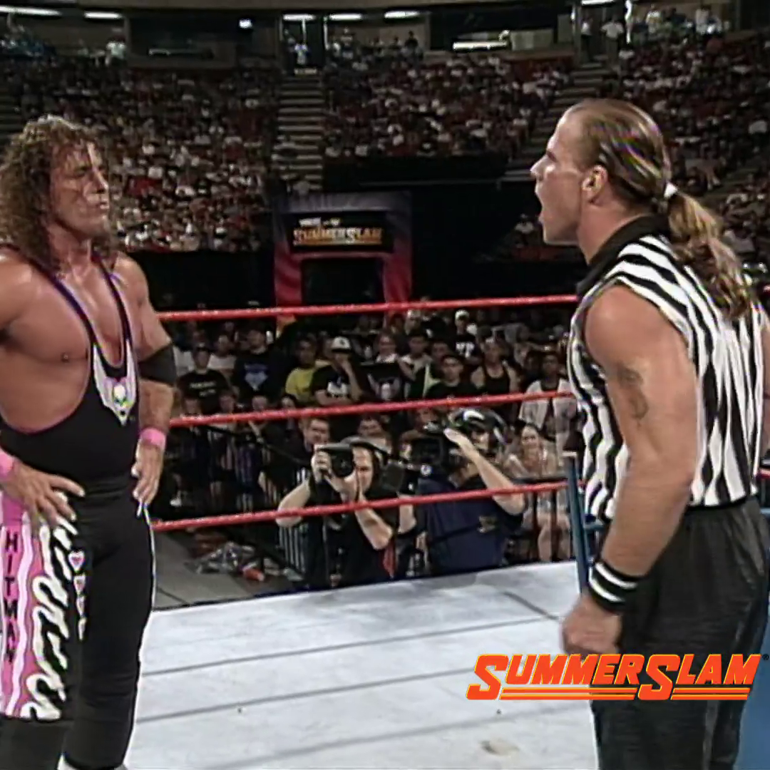 Book-ended by @RealMickFoley vs. @TripleH and @BretHart vs. @undertaker, #SummerSlam '97 was a night to remember 2️⃣3️⃣ years ago today!