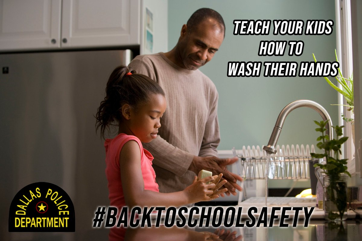Nervous about the kids going back to school? Whether they are distance learning online or physically going to school, remind them to wash their hands often. #BackToSchool #StopTheSpread #COVID19 @ChiefHallDPD