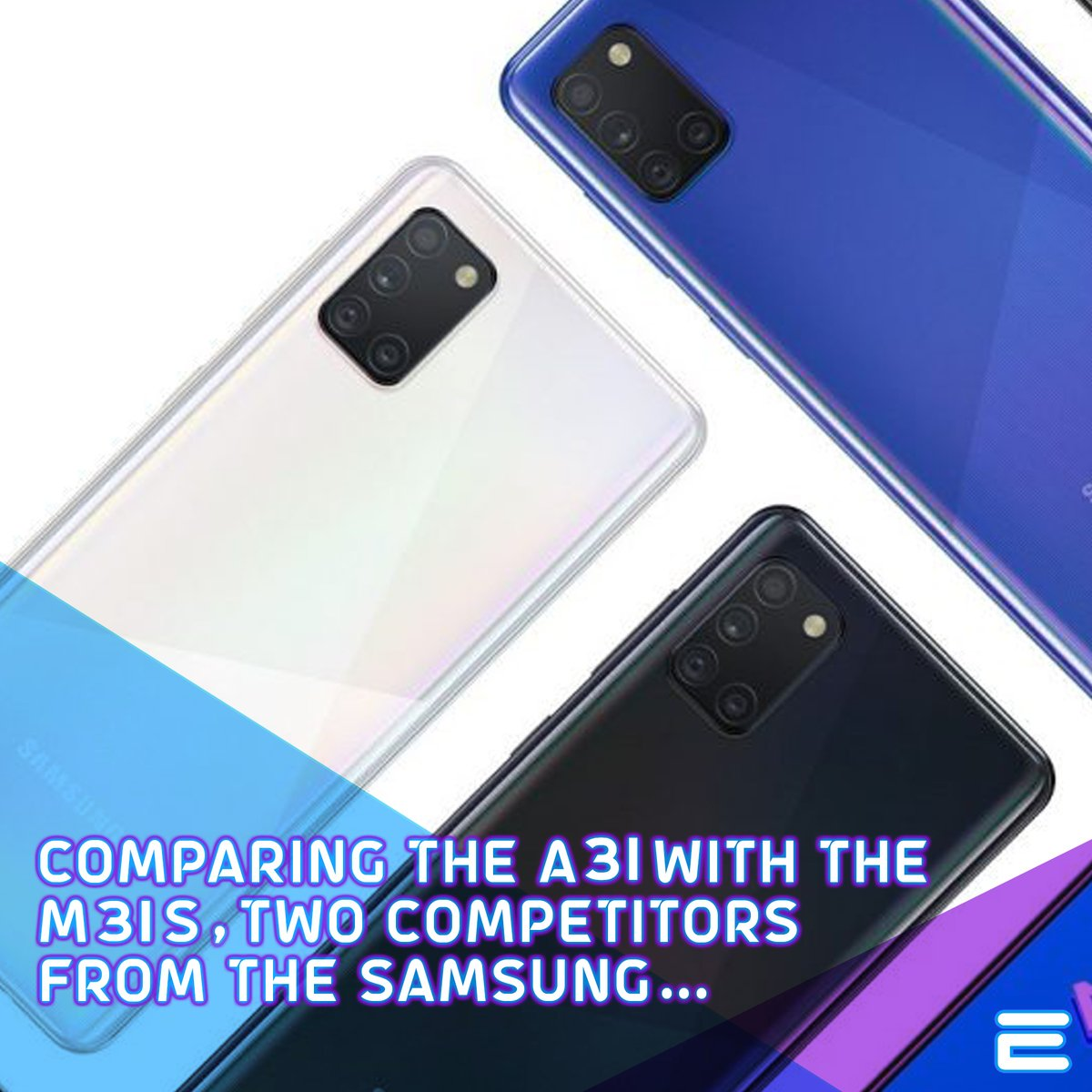 Comparing the A31 with the M31S, two competitors from the Samsung... check the link below for more information.  #euvotx #tech #Samsung #a31 #M31s