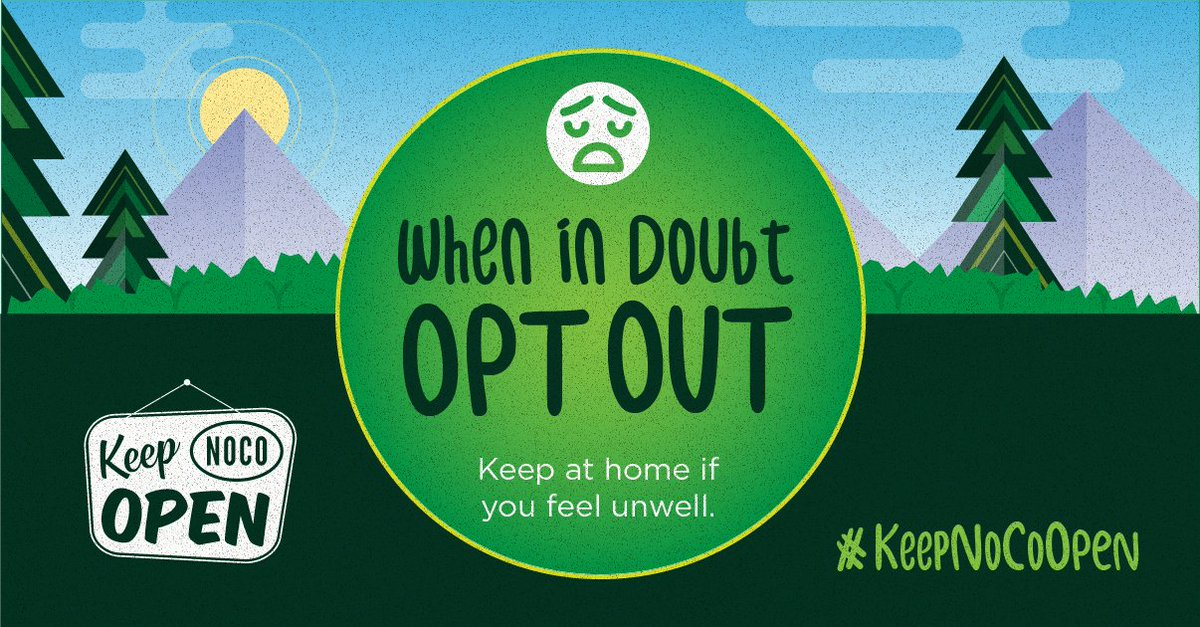 Not feeling well? 🤒 Skip the social engagements, errands & other activities where you might have contact with others.   Contact-free delivery & virtual hangouts are safe alternatives when venturing out could put others at risk.  Let's keep each other safe & #KeepNoCoOpen!