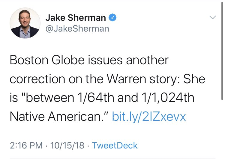 With the news that Elizabeth Warren is the last white woman on the short list of VP options for Biden, I figured it was a good time to go to the vault for that time when the media/left insisted that Warren was not, in fact, white.  Remember the Native American debate? 🧵thread🧵