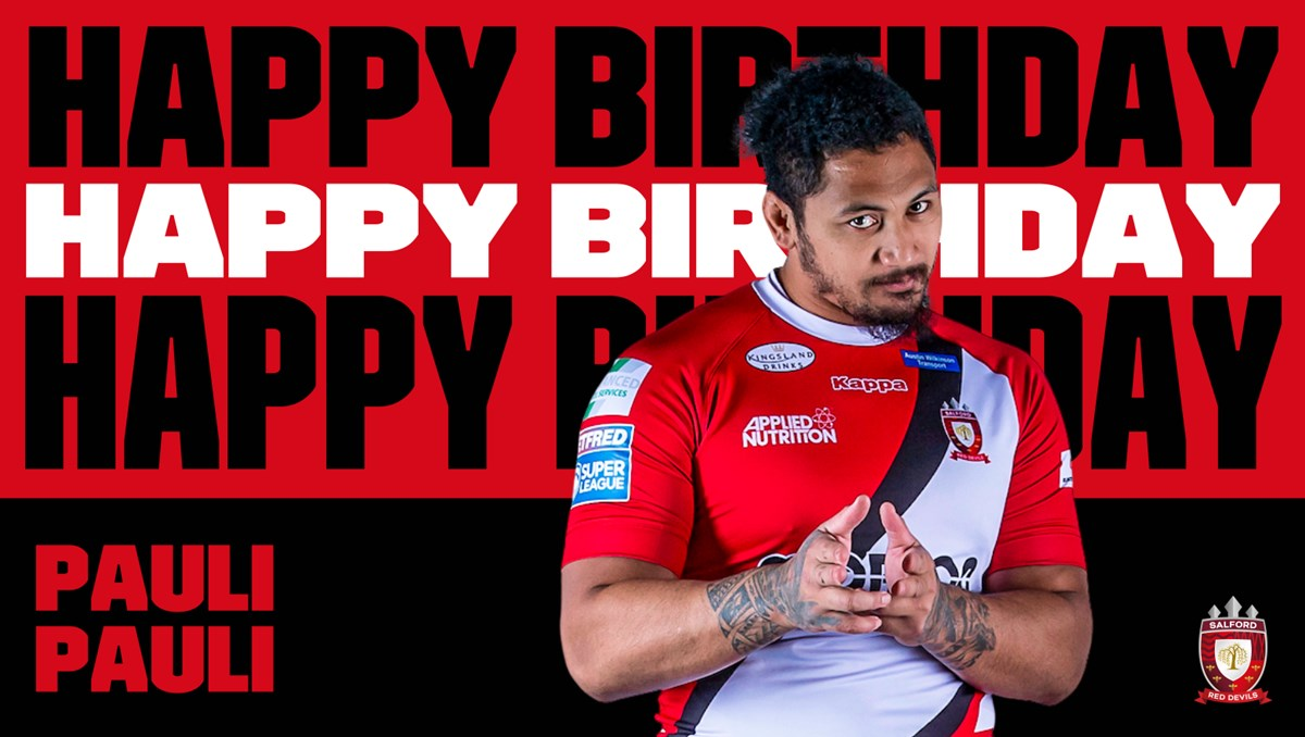 🎂 HAPPY BIRTHDAY PAULI PAULI!  🥳 We can't wait to see the big man back in action!  💪 #TogetherStronger  🏟️ Join him at Headingley on Sunday👉