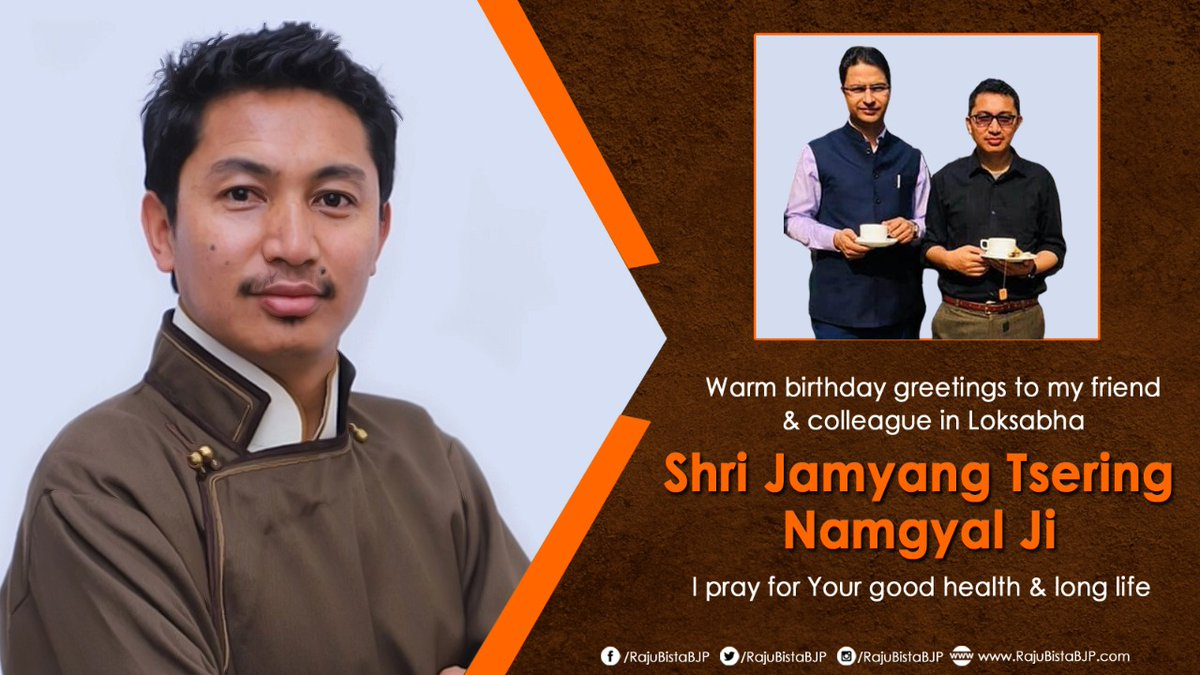 Warm birthday greetings to State President of @BJP4Ladakh & MP Loksabha Shri Jamyang Tsering Namgyal ji.   His energy and enthusiasm about transforming Ladakh is truly inspiring.  I pray for your long and healthy life.