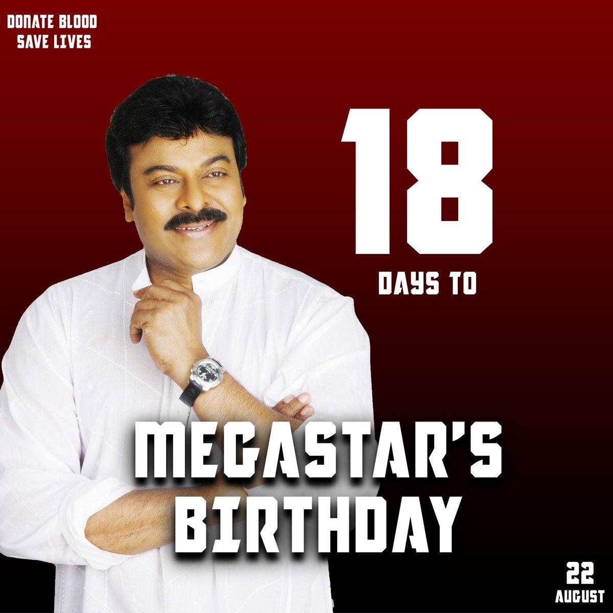 More 18 day's to go for our Boss @KChiruTweets Birthday ❤   #MegastarChiranjeevi  #ChiruBdayTrendOnAug21