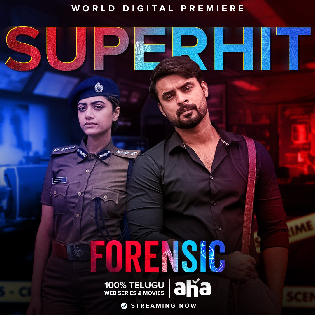 It's been a thriller coaster ride for #ForensicOnAHA as it recieves an amazing response from the Telugu audiences on @ahavideoIN   Watch now ➡️  @ttovino @mamtamohan @Reba_Monica @JxBe @actorAnirudh @DhaneshAnandTK #AnasKhan #AkhilPaul