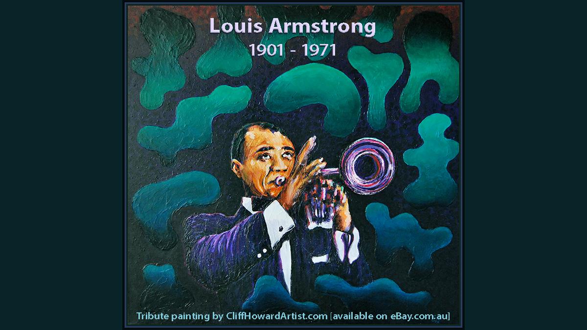 Celebrating the birth date of Louis Armstrong (4 August 1901) trumpeter, composer & singer. #RollingStone #eentertainment #RecordingAcad #nytimesarts #Digg #BarbicanCentre #LincolnCenter #AMAs #BigHitEnt #CliffHowardArtist #Jazzwise #morrisontrumpet #BeatMagazine #MelbRecital #EW