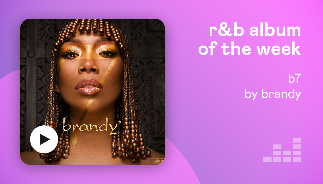 Our R&B album of the week is… #B7 by @4everBrandy! It's her first album in eight years and well worth the wait  🎧  Listen now on Deezer.