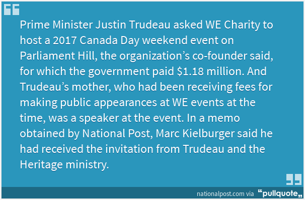 Trudeau government arranged $1.18 million for WE Day event featuring Margaret Trudeau | National Post