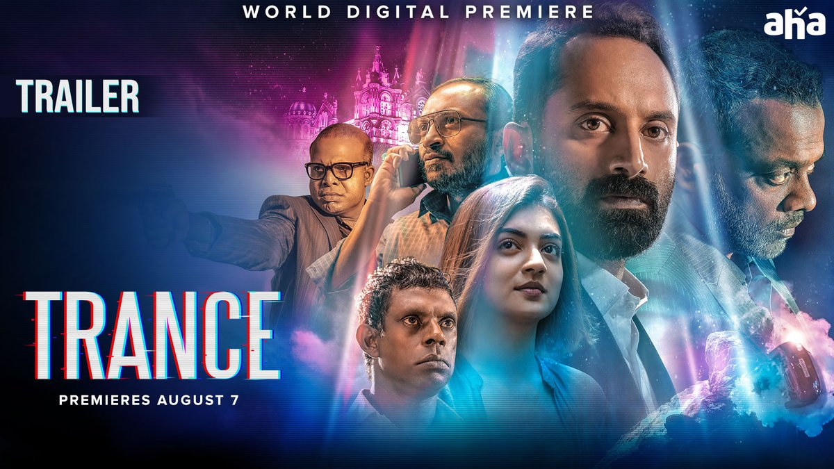Renowned actor and director, @menongautham unveils the Telugu Trailer of #Trance on @ahavideoIN's Facebook page.   Premieres August 7!   Catch the trailer here :    #FahaadhFaasil #Nazriya #AnwarRasheed #AmalNeerad @resulp