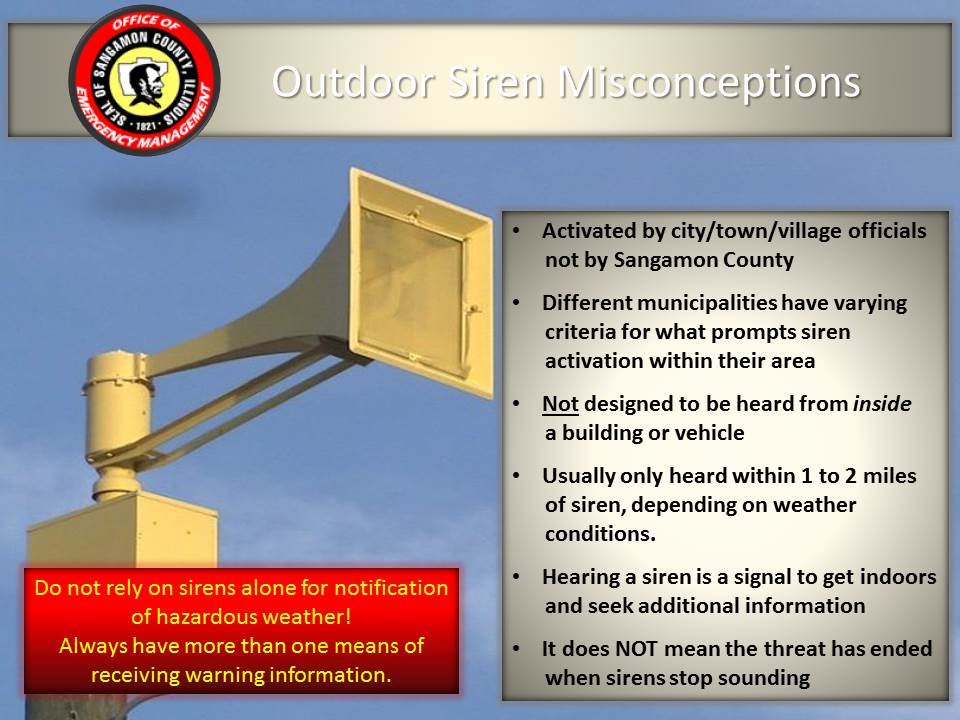 Reminder, Severe Weather Sirens will be tested today at 10:00 am