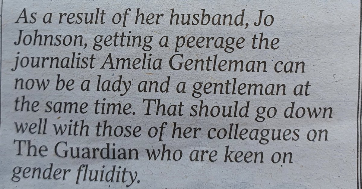 Amusing item in the @timesdiary