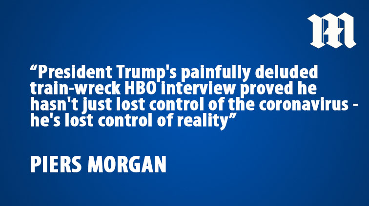 .@piersmorgan: What the f*ck is Trump talking about?