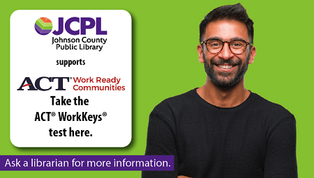 Take the ACT WorkKeys Test for free! JCPL is partnering with @AspireJohnsonCo to help make Johnson County a better place to live, work and learn by serving as an assessment site. Improve your chances of getting a job or a better job! Learn more at