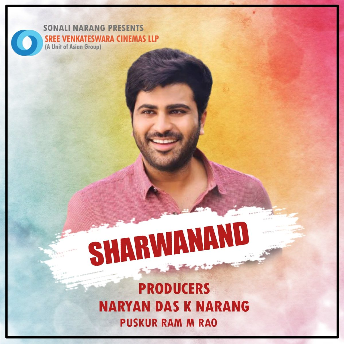 Sri Venkateswara Cinemas LLP is coming up with a huge line of Projects. After the recent big announcements, now they have announced a new collaboration with @ImSharwanand under @SVCLLP.  Produced by NarayanDas K Narang & puskur Ram M Rao  @AsianCinemas_ @AsianSuniel