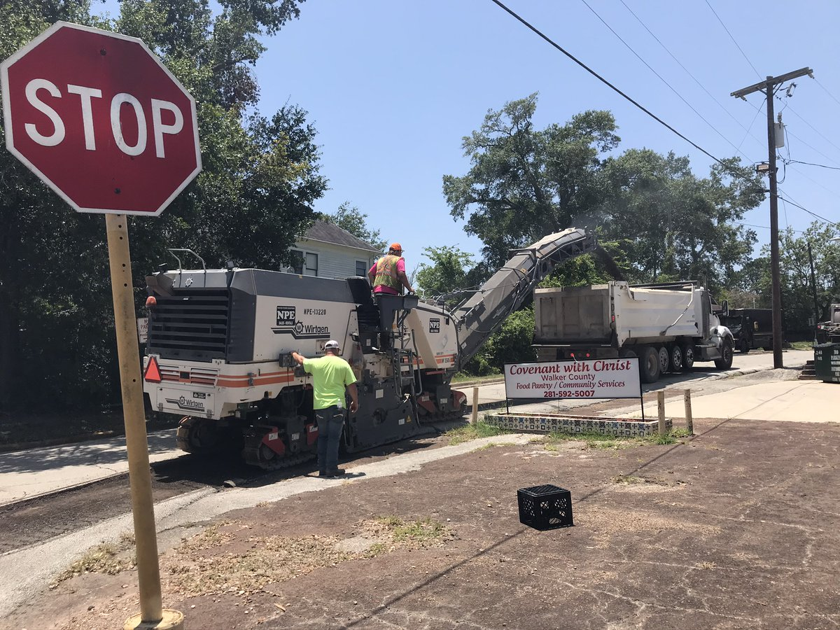The City residents have begun receiving notices about mill and overlay taking place across #HomeSweetHuntsville. Portions of 14th St received some much needed work at the end of July. Citizens are asked to practice patients as contractors move throughout town to improve roads.