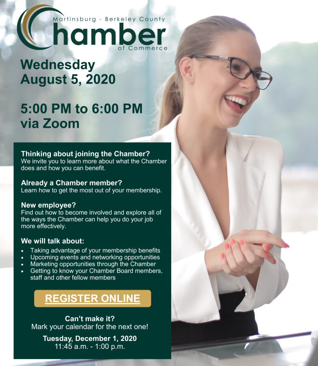 Join us tomorrow evening to learn more about Chamber membership and how you can benefit. #MyChamber
