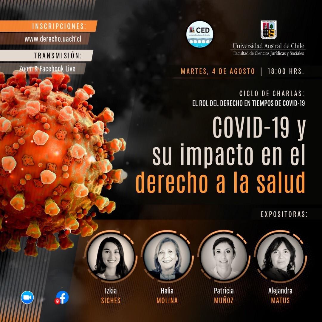 #Hoy a las 18:00 hrs. tenemos el ciclo de charlas: El rol del derecho en tiempos de #COVID, con la participación de la Dra. @Izkia Siches, junto a @Hmolinamilman, @Pa__tty Muñoz y @alejandramatus. Organizado por @UAustraldeChile y @CEDUACh  Inscríbete ➡️