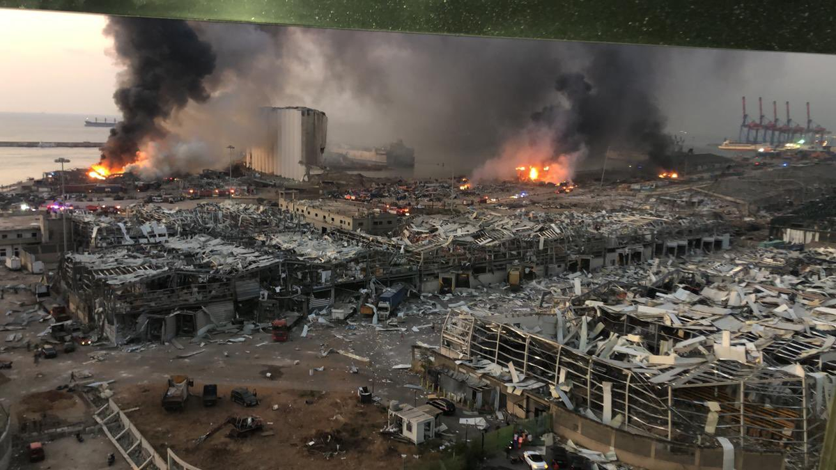 This is devastating. Lebanon was already spiralling, in the midst of a political and currency crisis with accelerating COVID-19 cases. People were going hungry - and that's the city's largest grain elevator right there.