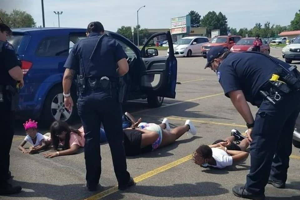 There is absolutely no apology that can make up for this. This photo makes me so mad, these kids will be traumatized over this for years. A car mistaken for a stolen motorbike?! Why draw guns and make them lie face down on hot asphalt?! I'm so sick and tired these days.