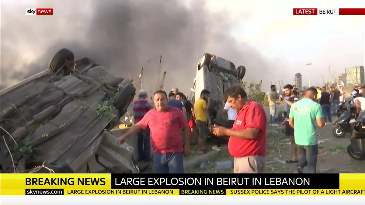 A large explosion has been heard in the Lebanese capital Beirut. Security sources said a number of people were injured during the widespread destruction across the city, with residents reporting windows being blown out and ceilings collapsing  Read more: