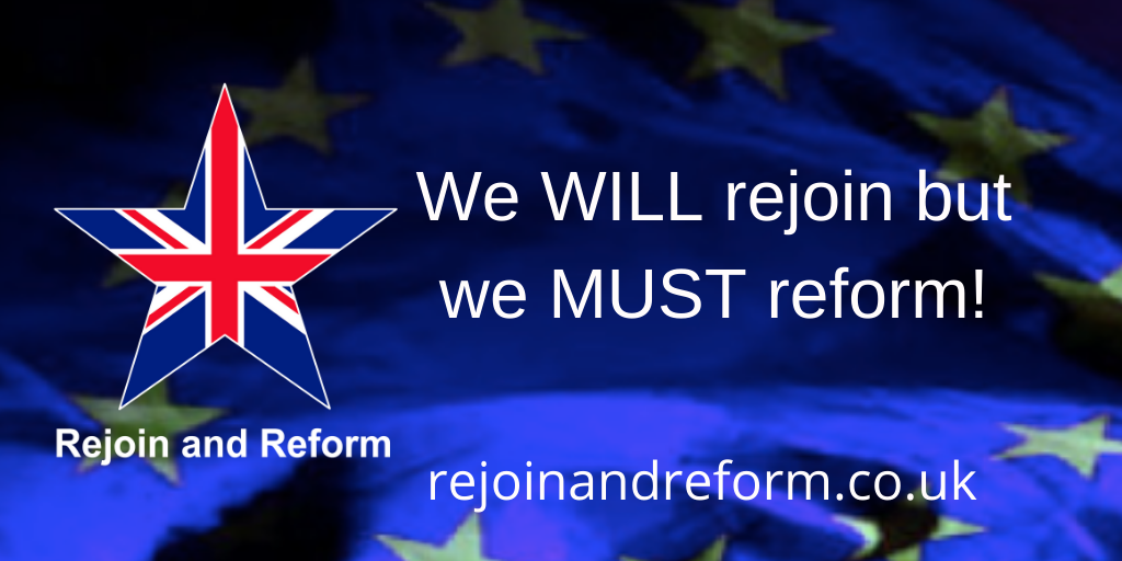 Our political system is long overdue for reform. Unreformed and manipulated by the players to suit their ends, it is now dysfunctional and corrupt. Had it been reformed we wouldn't be in the mess we're in now. We will rejoin the EU, but first we must reform.