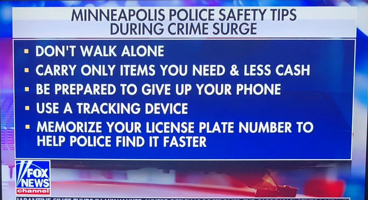 Minneapolis Police Department to Residents Confronted by Criminals: 'Do as they say'