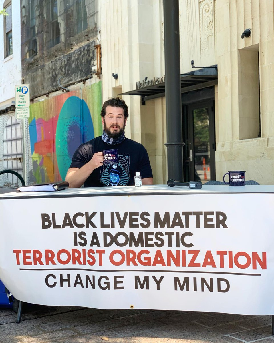 Come one, come all! #BlackLivesMatter is a Domestic Terrorist Organization. Change My Mind. 901 Congress Ave, #Austin, TX.