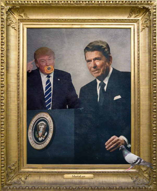 @gorgenis Can't wait for the day that President Joe Biden refuses to display Trump's portrait in the White House 🏛. Who should Biden replace #PresidentSnowflake with? Reagan, Bush Sr, Clinton, Bush, or President Obama? I say, Obama. #PresidentPortrait