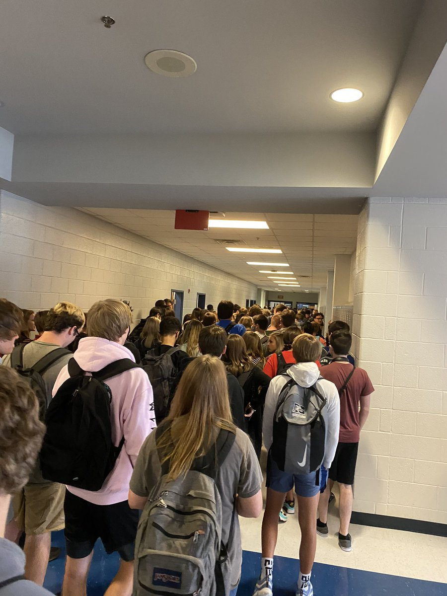 Day two at North Paulding High School. It is just as bad. We were stopped because it was jammed. We are close enough to the point where I got pushed multiple go to second block. This is not ok. Not to mention the 10% mask rate.