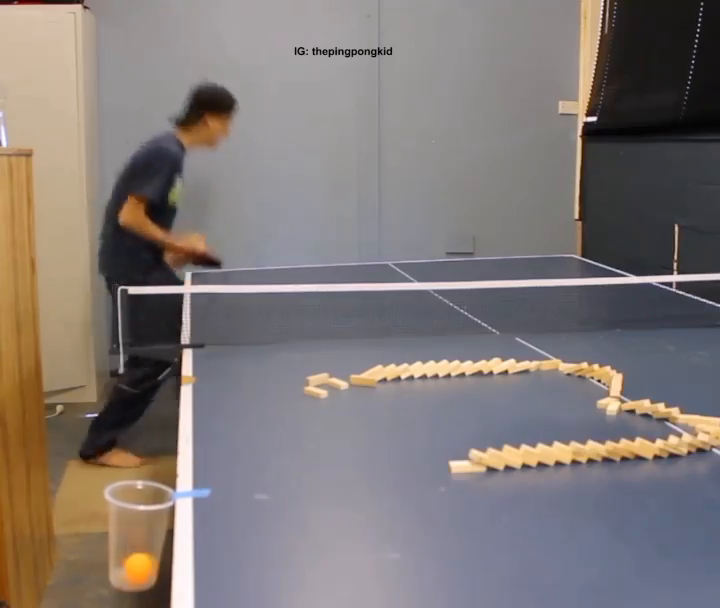 These ping pong trick shots are next-level 🤯   (via thepingpongkid/Instagram)