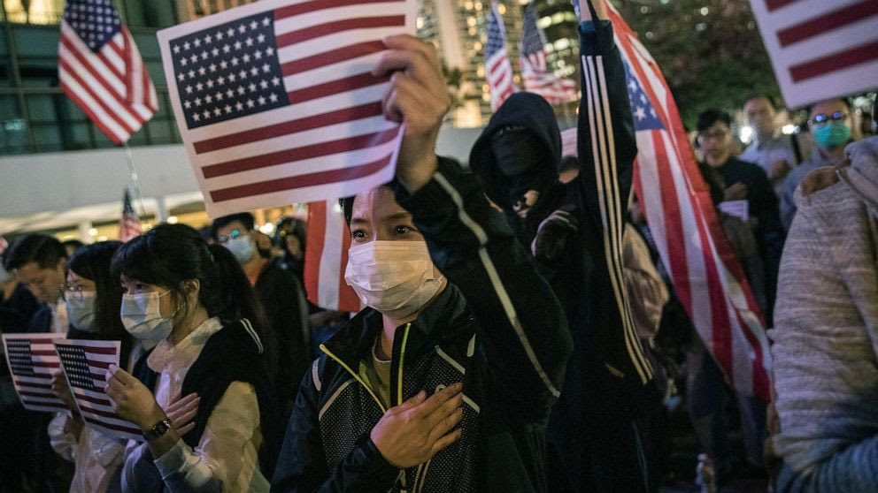 In Hong Kong, protestors wave the American flag because they recognize that our country - even with its flaws - is the last best hope of humanity. Every day Americans should drop to their knees in thanksgiving to God and stand with pride when they hear the National Anthem.