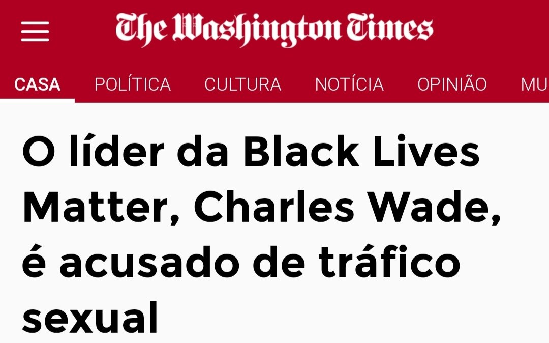 Opa...vejam só! Charles Wade, um proeminente organizador do Black Lives Matter já foi preso e acusado de tráfico de seres humanos e prostituição. Foi detido em sete acusações relacionadas a isso e inclusive de uma garota de 17 anos.