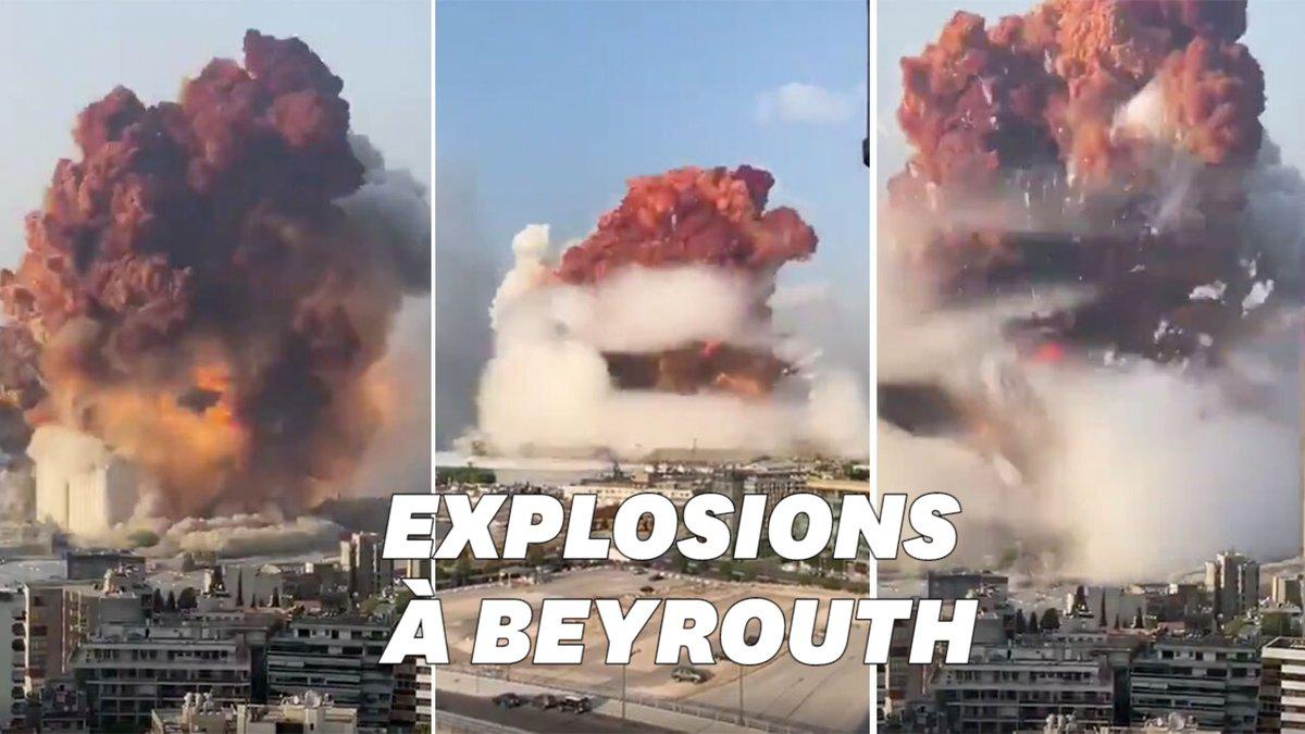 Les images terrifiantes de la double explosion à Beyrouth