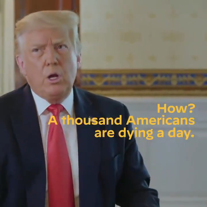 """Thousands of Americans are dying every week. The President's response?  """"It is what it is."""""""