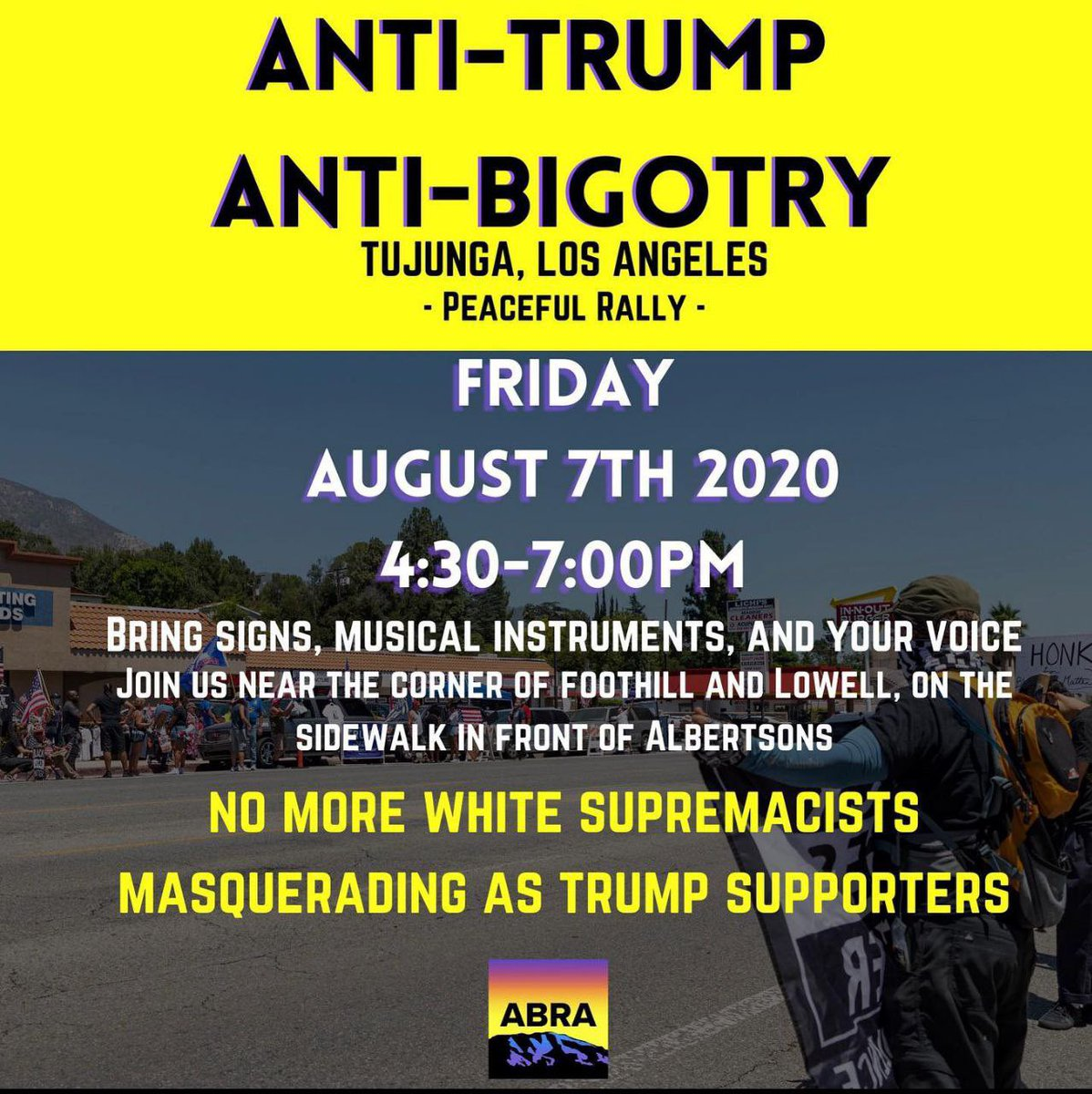 🏴🔥🏴Nazi trumps are at it again terrorizing Tujunga. Come out if you can and support of our brave comrades!🏴🔥🏴