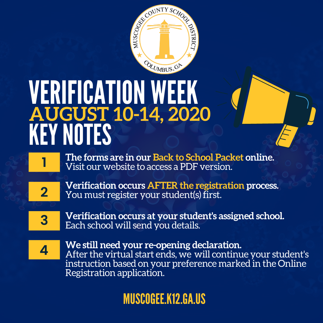 Reminder: Verification Week starts in FIVE days. Access the required documents here: . #mcsdwe #keepgalearning