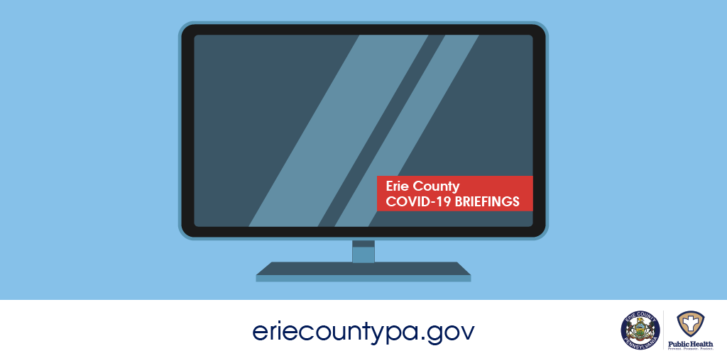 Tune in today at 3 p.m. for an update on #COVID19 in Erie County. Check your favorite local station or our Facebook page!