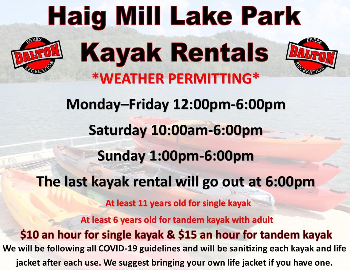 THIS IS THE LAST FULL WEEK OF KAYAK RENTALS!!  We will be open weekends only after this week through September.