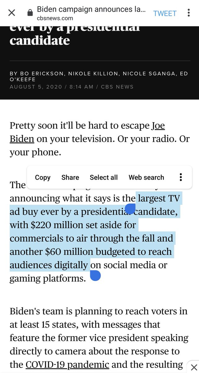in 2020 a major prez campaign is still only doing 20% of ad budget on digital
